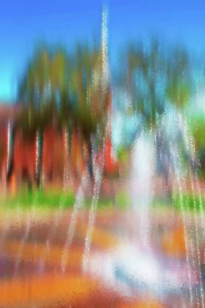 Fun Wall Art - Photograph - Fountain In City Park 2 by Steve Ohlsen
