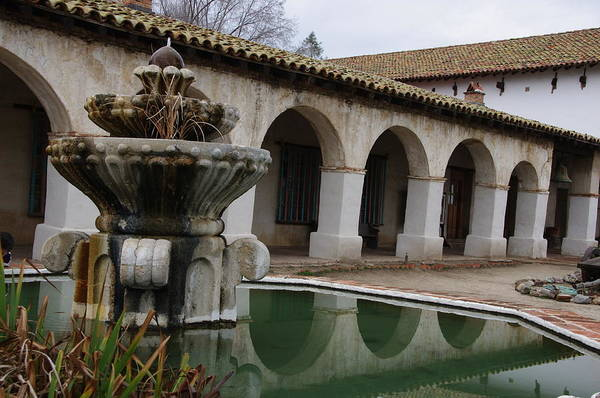 Photograph - Fountain Of Mission San Miguel by Jeff Lowe