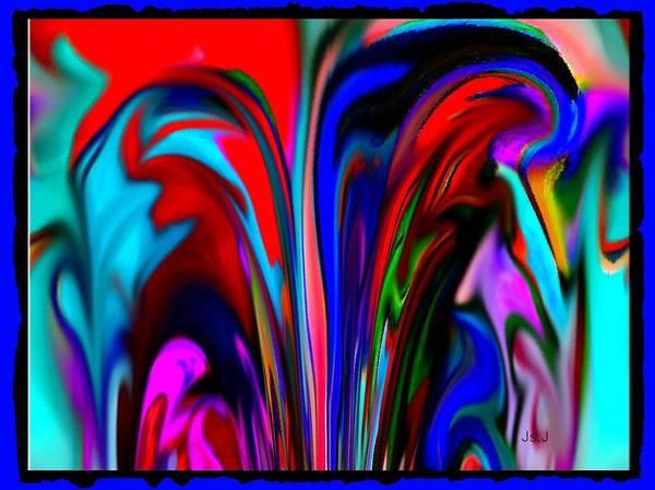Spout Digital Art - Fountain Of Vibrancy by Jan Steadman-Jackson