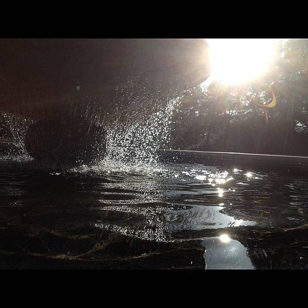 Martini Wall Art - Photograph - #fountain#water#sunshine by Ally De Martini