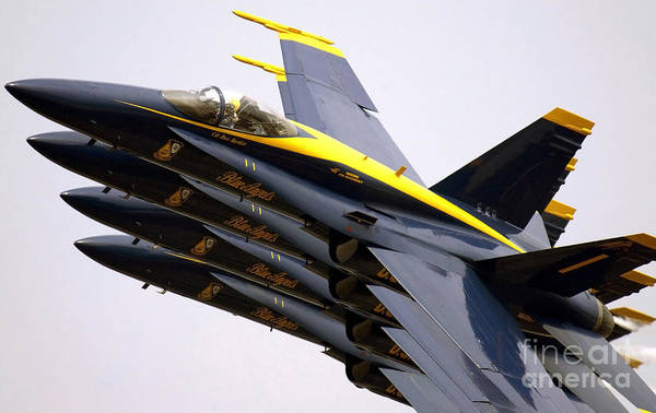 Photograph - Four Blue Angels Fa-18c Hornets Perform by Stocktrek Images