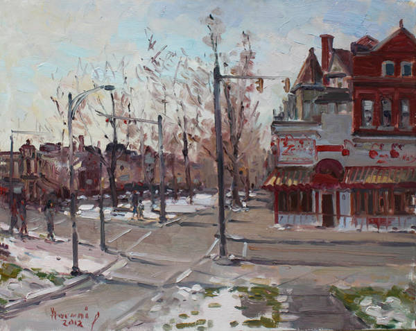 Wall Art - Painting - Four Corners At Bidwell Parkway by Ylli Haruni