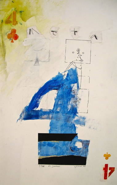 Painting - Four Of Clubs 1-52  2nd Series  by Cliff Spohn