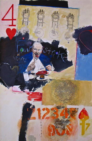 Painting - Four Of Hearts 47-52 by Cliff Spohn