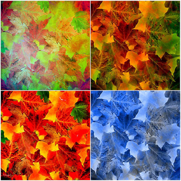 Beauty Of Nature Digital Art - Four Seasons In Abstract by Lourry Legarde