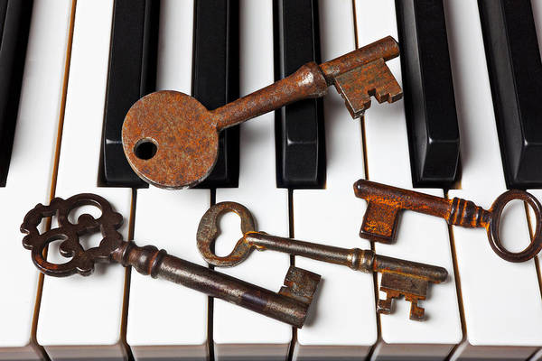Compose Wall Art - Photograph - Four Skeleton Keys by Garry Gay