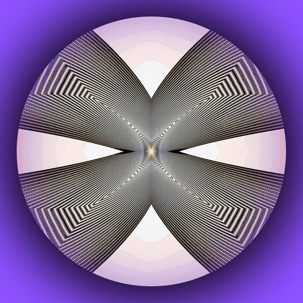 Digital Art - Four Way by Visual Artist Frank Bonilla