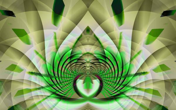Digital Art - Fractal Lotus by Frederic Durville