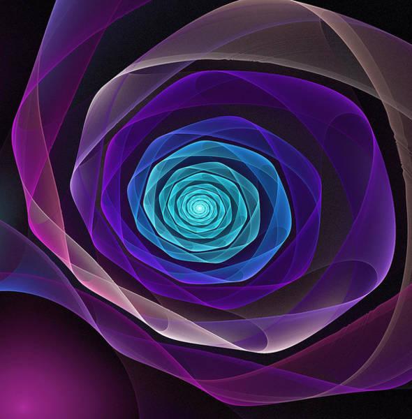 Wall Art - Digital Art - Fractal Rose by Pam Blackstone