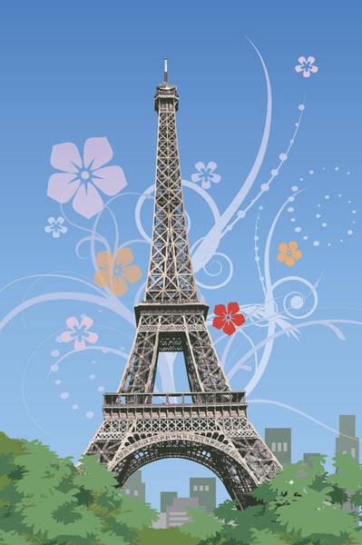 Famous People Digital Art - France, Paris, Eiffel Tower, Capital Cities by IMAGEMORE Co, Ltd.