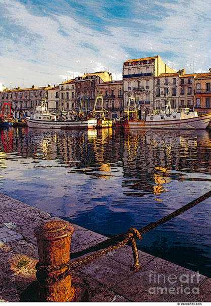 Wall Art - Photograph - France Waterfront Village 01 by Vance Fox