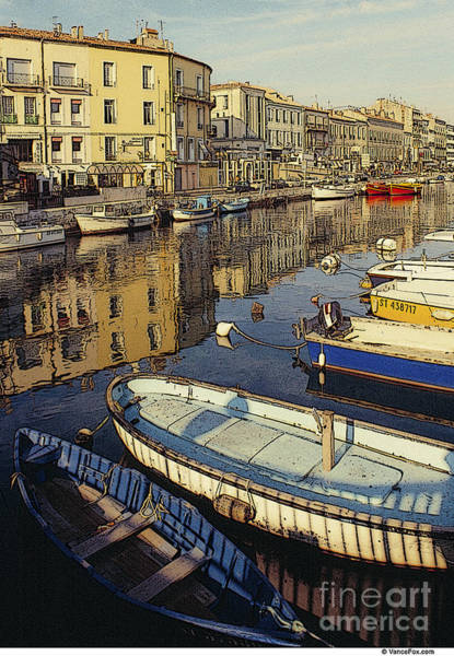 Wall Art - Photograph - France Waterfront Village 02 by Vance Fox
