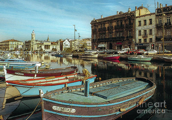 Wall Art - Photograph - France Waterfront Village 03 by Vance Fox
