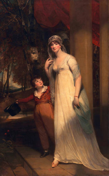 Family Time Wall Art - Painting - Frances Borlase Later Frances Grenfell And Pascoe George Norman Grenfel by Sir Martin Archer Shee