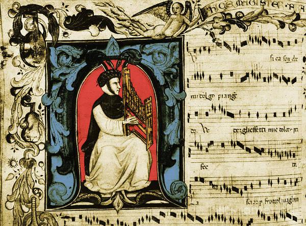 Photograph - Francesco Landini Italian Composer by Photo Researchers