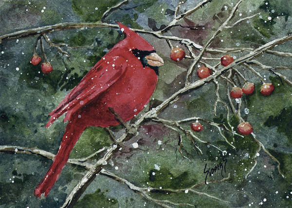 Painting - Franci's Cardinal by Sam Sidders