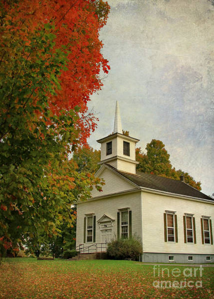 Photograph - Franklin Church by Deborah Benoit