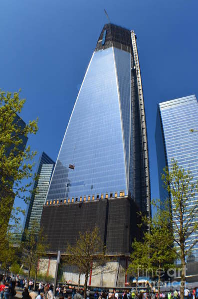 Photograph - Freedom Tower Rising New York by Christopher Shellhammer