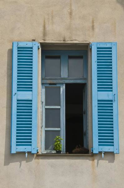 Photograph - French Bleu Shutters by Richard Henne