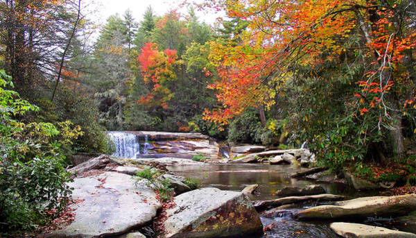 Photograph - French Broad Waterfall In The Fall 2 Near Balsam Grove Nc by Duane McCullough