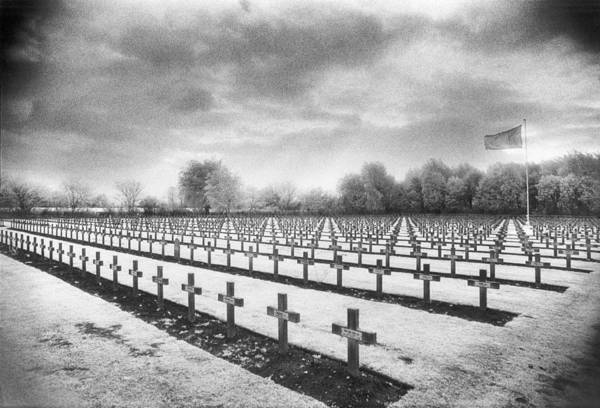 Commemorative Wall Art - Photograph - French Cemetery by Simon Marsden