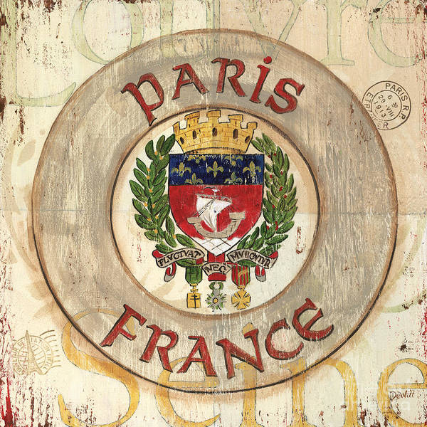 France Wall Art - Painting - French Coat Of Arms by Debbie DeWitt