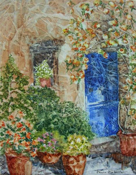Painting - French Doorway by Paula Robertson