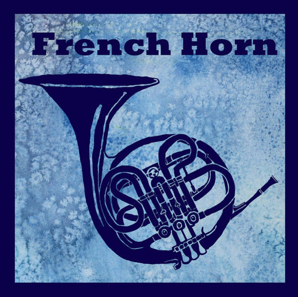 Marching Digital Art - French Horn by Jenny Armitage
