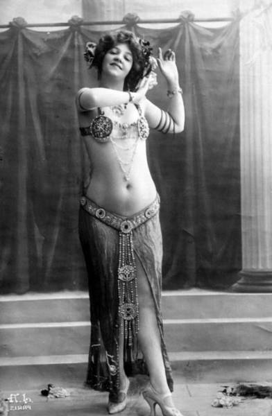 Belly Dancers Photograph - French Postcard, Circa 1900-1910 by Everett