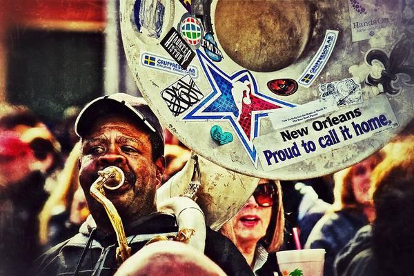 Photograph - French Quarter Tuba Guy 1 by Jim Albritton