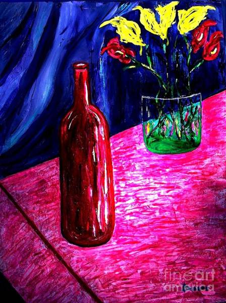 Sax Painting - French Table by Darlyne Sax