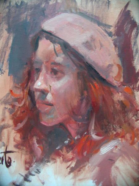 Wall Art - Painting - Friday Girl by Berto Ortega