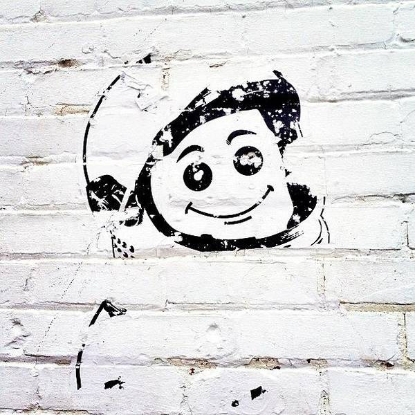 Cartoon Wall Art - Photograph - Friendly Astronaut by Tasha L