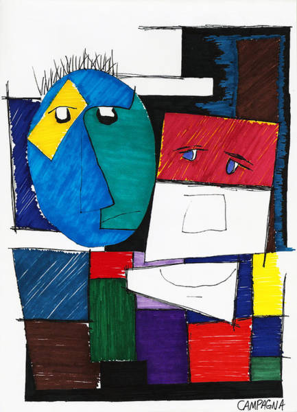 Painting - Friends by Teddy Campagna