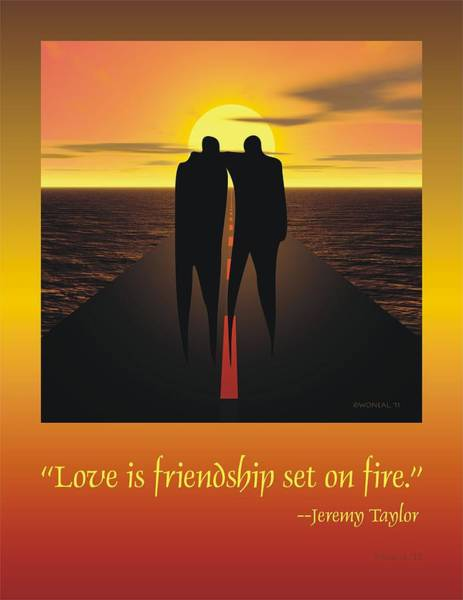 Friendship Poster Art Print