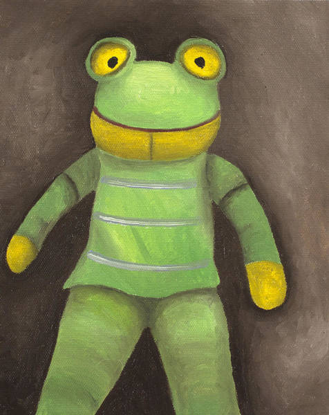 Painting - Frog Boy by Leah Saulnier The Painting Maniac