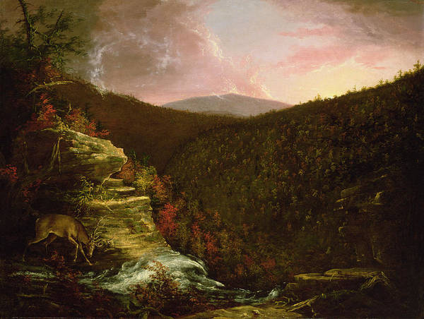 48 Wall Art - Painting - From The Top Of Kaaterskill Falls by Thomas Cole