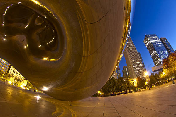 Photograph - From Under Cloudgate by Sven Brogren
