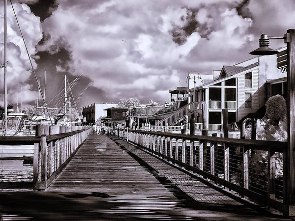 Photograph - Front Street Boardwalk - Infrared by Bill Barber