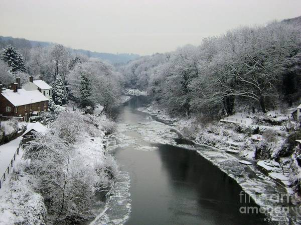 Photograph - Frosted Trees At Ironbridge by Sarah Broadmeadow-Thomas