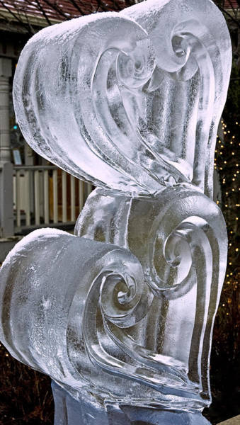 Ice Carving Photograph - Frozen Hearts Melt With Love by LeeAnn McLaneGoetz McLaneGoetzStudioLLCcom