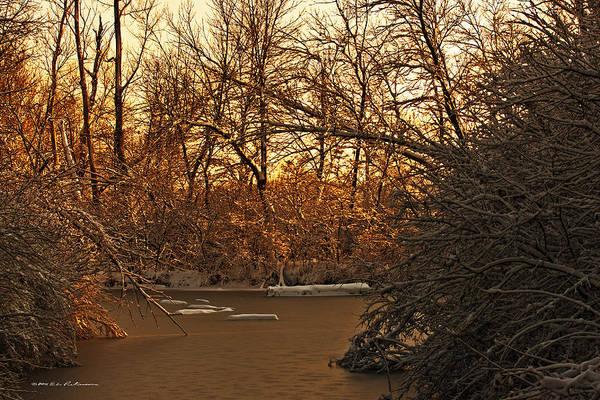 Photograph - Frozen Pond by Edward Peterson