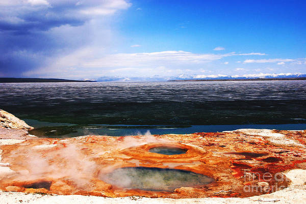 Photograph - Frozen Yellowstone Lake by Susanne Van Hulst