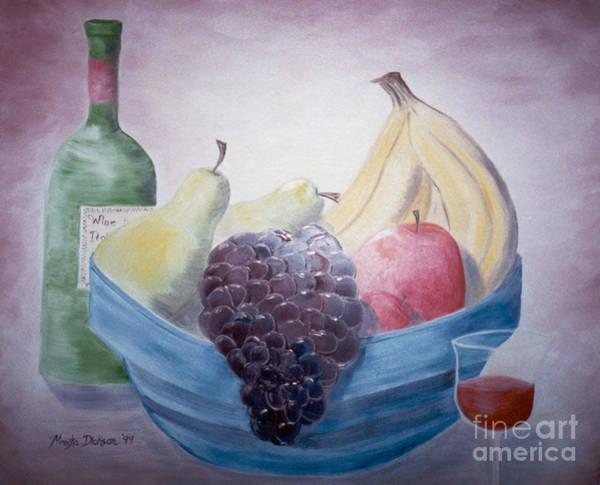 Painting - Fruit Bowl by Monika Shepherdson