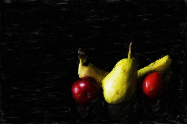 Painting - Fruit Still Life On Black  by Dean Wittle