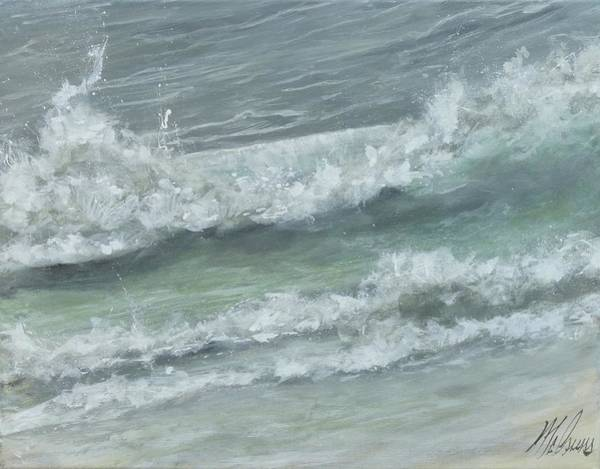 Captiva Island Painting - Ft Myers Beach Breakers by Jk Mcgreens