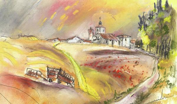 Ribera Del Duero Painting - Fuente Del Cuellar In Spain by Miki De Goodaboom