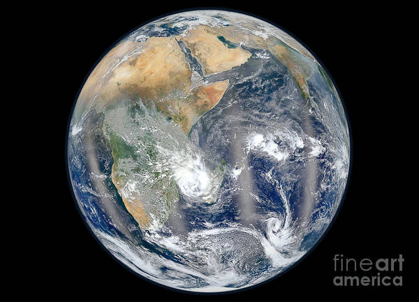 Photograph - Full Earth Showing The Eastern by Stocktrek Images