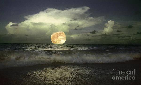 Photograph - Full Moonrise On Jupiter Island by Richard Nickson