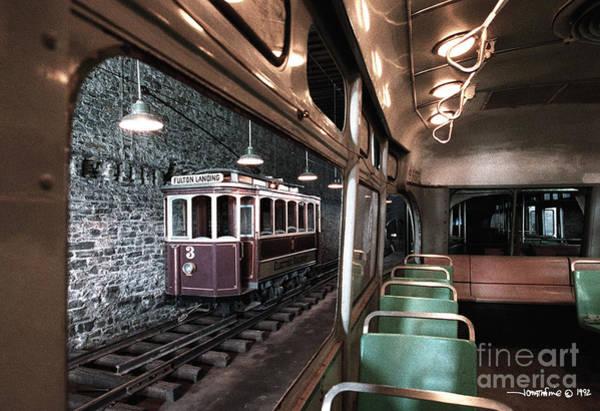 Photograph - Fulton Landing Trolley by Jonathan Fine